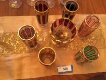 Etched and Cut Depression Error Glass Set