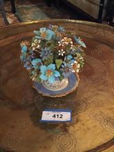 Italian Porcelain with Enameled Flowers
