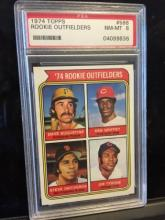 1974 Topps Rookie Outfielders #598 PSA 8