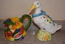 Decorative Ceramic Duck Figurine
