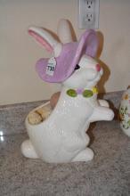 Decorative Ceramic Bunny Planter