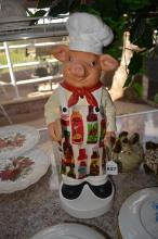 Composition Pig Spoon Holder