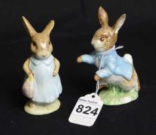 2 Beatrix Potter Beswick Bunny Figurines
