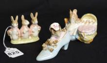 Group of 3 Beatrix Pottery Beswick England Bunny