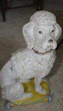 Hand Painted Large Ceramic Poodle