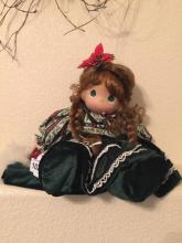 Christmas Doll With Green Eyes