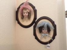 Pair of Doll Face Plaques