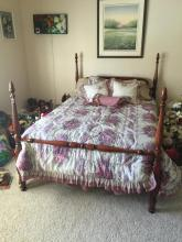 Wood Full Size Country Style Bed