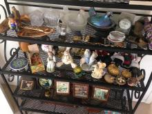 Contents of Shelf- Collectibles, Crystal, Hockey
