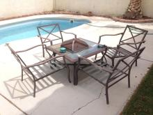 Fire Pit Patio Set With 4 Chairs
