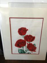 Watercolor of Roses by K. Kaneshrio