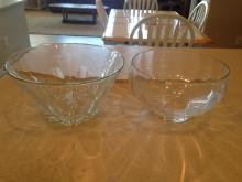 2 Glass Bowls