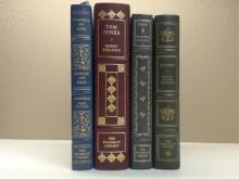 Franklin Library, Four Volumes:  EVIDENCE OF LOVE, Shirley Ann Grou, First Edition, Illustrated 1977; TOM JONES, Henry Fielding, Illustrated 1978; SELECTED WRITINGS, Sir Francis Bacon 1982; WALDEN, Henry David Thoreau 1976.