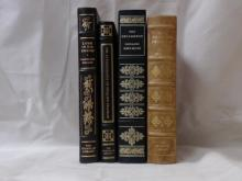 Franklin Library, Four Volumes:  THE DECAMERON, Giovanni Boccaccio, Illustrated, 1977; THE AUTOBIOGRAPHY OF BENJAMIN FRANKLIN, 1979; LAMB IN HIS BOSOM, Illustrated, 1978; THE PILGRIM'S PROGRESS, John Bunyan, Limited Edition, 1976.