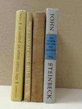 John Steinbeck, 4 Volumes:  THE WINTER OF OUR DISCONTENT, First, Viking, 1961; THE WAYWARD BUS, Viking Press, 1947; THE RED PONY, Illustrated, Viking Press, 1959; THE SHORT REIGN OF PIPPIN IV, Viking Press, 1957.  Condition: Fair.