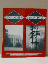 ILLINOIS CENTRAL TIME TABLE - 1939 - VINTAGE
