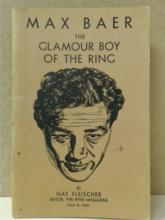 MAX BAER | THE GLAMOUR BOY OF THE RING by Nat Fleischer, 1941 FIRST EDITION