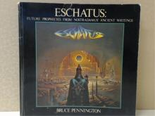 ALBUM COVER ALBUM, A & W Visual Library, 1977. 1st Edition, 160pp, soft cover.  Condition:  Good.  ESCHATUS:  FUTURE PROPHECIES FROM NOSTRADAMUS' ANCIENT WRITINGS, Bruce Pennington, Dragon's World, 1977.  Condition:  Good.