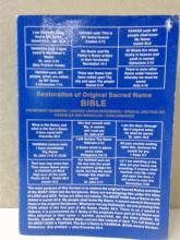 RESTORATION OF ORIGINAL SACRED NAME BIBLE, 6th EDITION, 1990