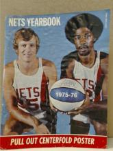 NETS YEARBOOK 1975-1976 - CENTER POSTER OF DR. J