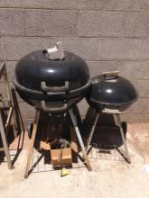 (2) Charcoal BBQ's w/ Rack (2) Life ladders