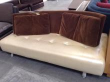 Beige and Brown Couch (BROKEN BACK REST)