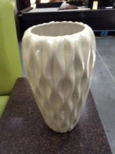 White Metallic Decor Vase