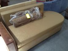 Gold Vinyl Chase Lounge Couch