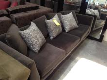 Grey Suede Sectional