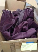 pallet of Purple Bed frame drapery