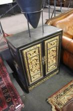 Small Oriental Carved Prayer Cabinet