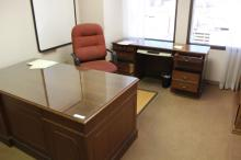 Executive Desk, Credenza, Bookshelf, Hall Table
