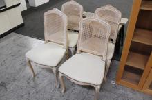 4 Wicker Back Dining Chairs