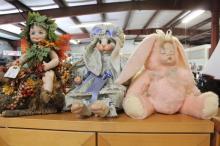 Porcelain Dolls Forrest Fair,Sleeping Baby,Rabbit