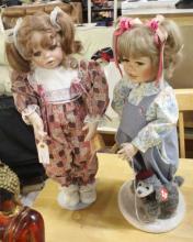 2 Porcelain Dolls: Snicker Doodle & Baby Shay