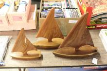 3pc Decorative Wooden Sail Boats