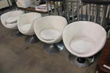 Set of 4 White Modern Chirs