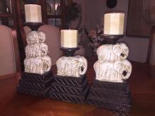 Elephant Candle Sticks
