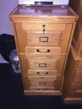 Wood Filing Cabinet