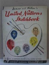 DERSO & KELEN'S UNITED NATIONS SKETCHBOOK - CARTOON HISTORY - HC/DJ
