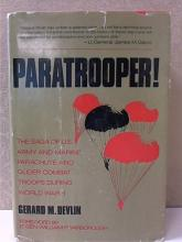 PARATROOPER - Gerard M. Devlin - WWII - HC/DJ - 717pp. - ILLUSTRATED