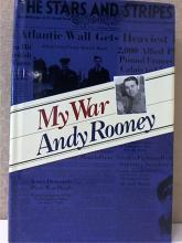 MY WAR, by Andy Rooney, Hardcover - Dustjacket -1993