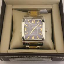 Men's Structure By Surface Analog Watch  Stainless Steel and Gold Band w/ Navy Blue  Face - 15584 - Retail New In Box