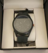 Men's Structure By Surface Analog Watch  Charcoal Gray Rubber Band w/ Charcoal Face -  15073 - Retail New In Box