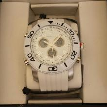 Men's Structure By Surface Analog Watch White  Rubber Band w/ White Face - 15077 - Retail  New In Box