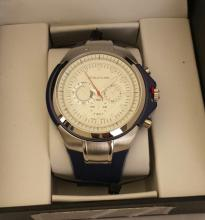Men's Structure By Surface Analog Watch Navy  Blue  Rubber Band w/ White Face - 15071 -  Retail New In Box