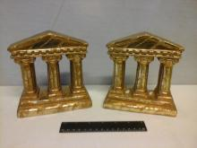2 Ancient Greek Pillars Bookends