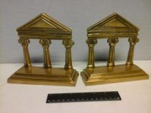 2 Brass Ancient Greek Pillars