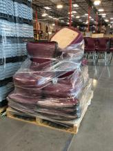 Pallet of Slot Chair Seats (No Bases)