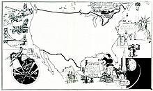 ATTILIO MICHELUZZI Americani: Storia dei popoli a fumetti